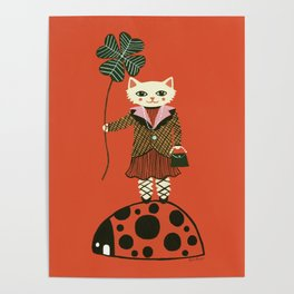 Lucky Cat, Red Poster