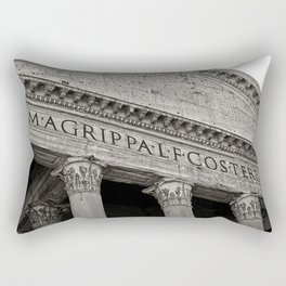 The Pantheon black and white Rectangular Pillow