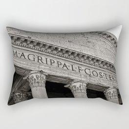 The Pantheon black and white Rectangular Pillow