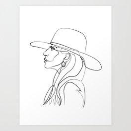 Lady Ga Art Print