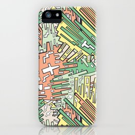Abstract Sherbert iPhone Case