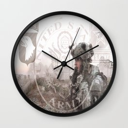 US Airborne Wall Clock