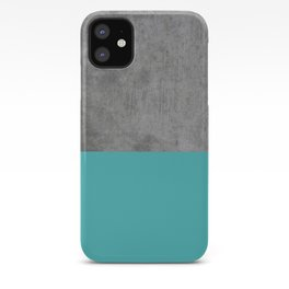 Concrete x Blue iPhone Case