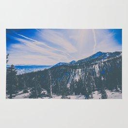 snowy mountain in Tahoe Rug