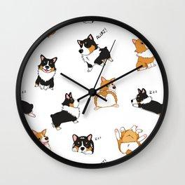 Corgi Pawty Wall Clock