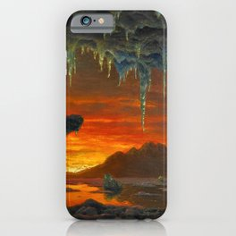Classical Masterpiece 'Maquette pour un Décor Grotte Arctique' by Ivan Fedorovich Choultsé iPhone Case