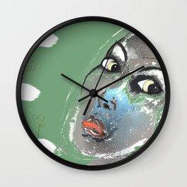 Lady Green Wall Clock
