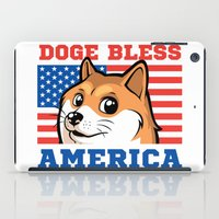 doge iPad Cases featuring Doge Bless America by Tabner's
