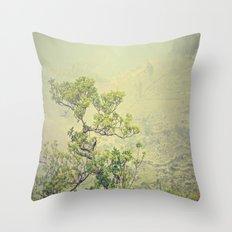 Caribbean Bonsai Throw Pillow