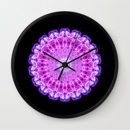 Smokin' Mandala Wall Clock