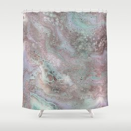 mauve and teal Shower Curtain