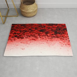 Ruby Red Ombre Crystals Rug