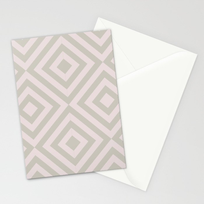 MONO:CHROMA Geometrica Earthy Pink Stationery Cards