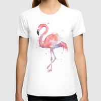 flamingo T-shirts featuring Flamingo  by Olechka
