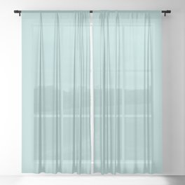 Cymbals ~ Light Turquoise Sheer Curtain