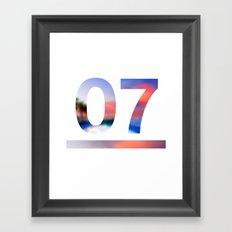 07 Jersey Framed Art Print