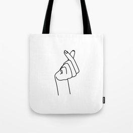 Love Finger Snap Tote Bag