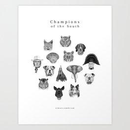 SEC Mascots Art Print