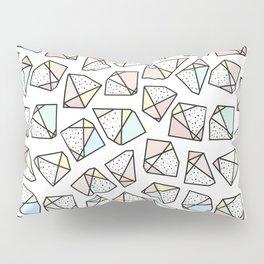 Polygonal stones and gemstones Pillow Sham
