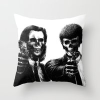pulp Throw Pillows featuring Pulp Fiction by Motohiro NEZU