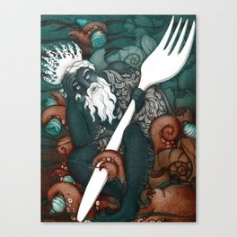 Plastic Pollution in the Ocean Canvas Print