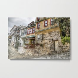 Old houses in Kavala Metal Print