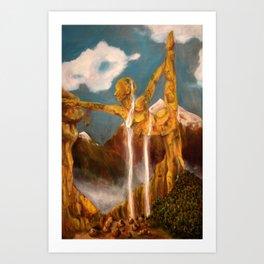 Balance Series - Mid-Day Mountains Art Print