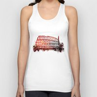 rome Tank Tops featuring Rome Colosseum by jbjart