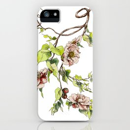 Camellia Inspired Flower Branch iPhone Case