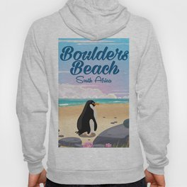 Boulders Beach South african penguin travel poster Hoody