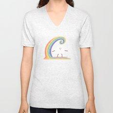 Rainbow Surf Unisex V-Neck