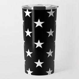 Stars (White/Black) Travel Mug