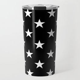 Stars (White/Black) Travel Mug