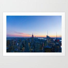 New York Cityscape VIew (Color) Art Print
