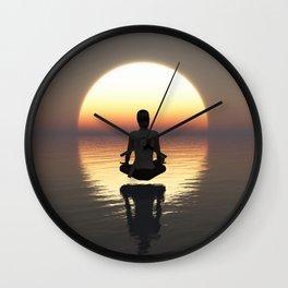 MEDITATION FEELING Wall Clock