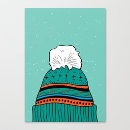 Winter Beanie Canvas Print