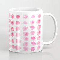 craftberrybush Mugs featuring Watercolor dots by craftberrybush
