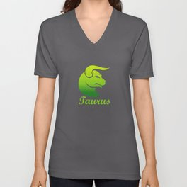 Taurus Earth Sign Graphic Zodiac Birthday Gift Idea Horoscope Design Unisex V-Neck