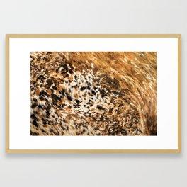 Rustic Country Western Texas Longhorn Cowhide Rodeo Animal Print Framed Art Print