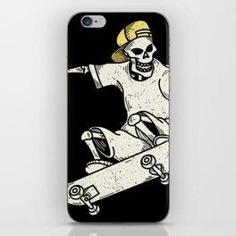Vintage Skateboarding Skeleton iPhone Skin