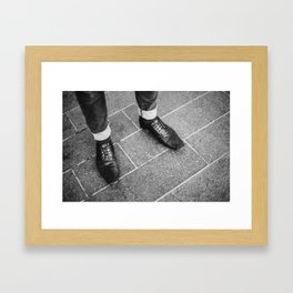 Leather Shoes / London, UK Framed Art Print