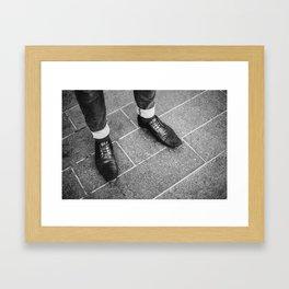 Leather Shoes / London, UK Framed Art Print