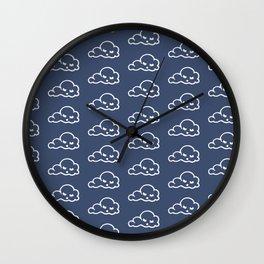 clouds pattern Wall Clock