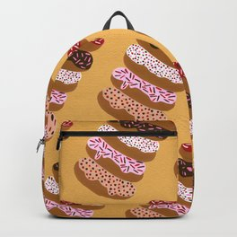Stacked Donuts on Yellow Backpack