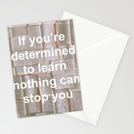 Inspiration - Spend more time learning  Stationery Cards