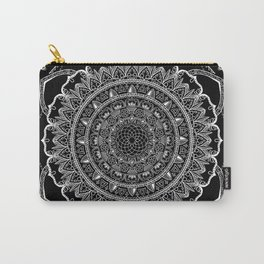 Black and White Geometric Mandala Carry-All Pouch