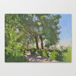 Italian Countryside Landscape Painting Canvas Print