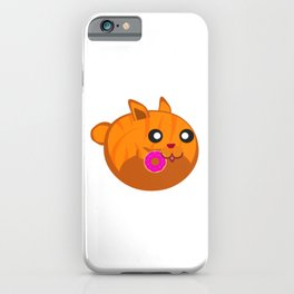 Orange Tabby Eating a Donut iPhone Case