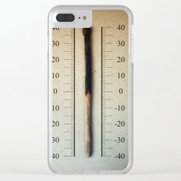 burnt match thermometer Clear iPhone Case