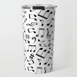 Music Note Mashup Travel Mug